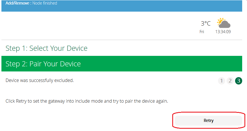 Include Generic Device Failed