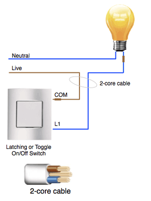 Standard 2-wire Lighting Circuit wiring