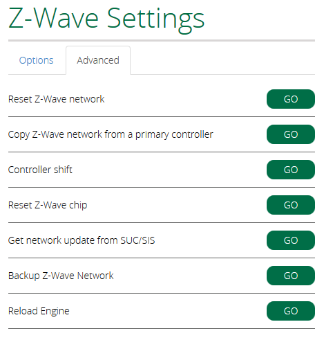 Z-Wave Settings