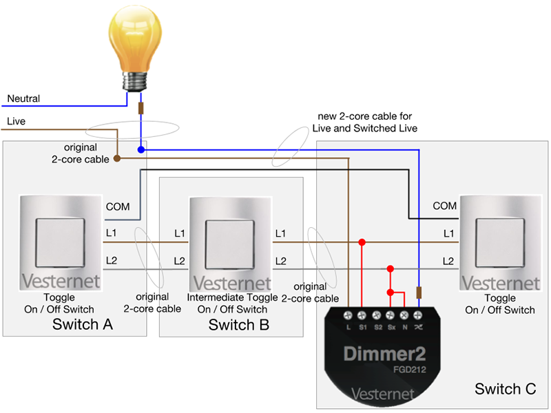 3 Way Switch To Schematic Wiring Diagram