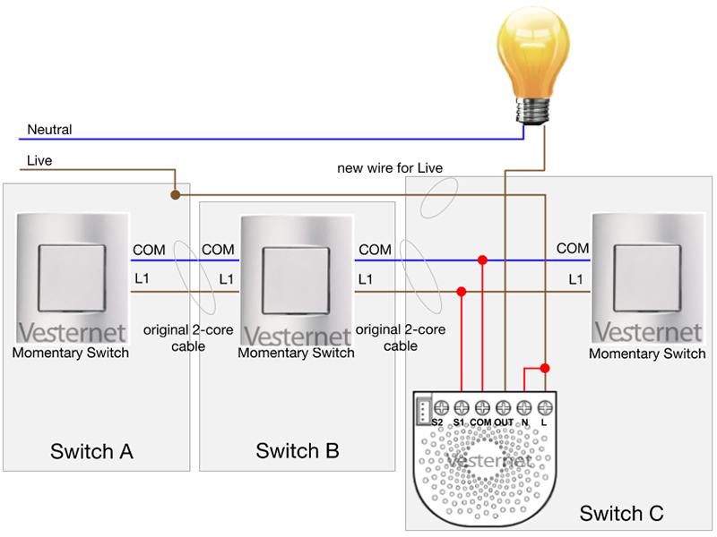Amazing 4 Way Switch Wiring Diagram Momentary Contact Momentary Contact Wiring Digital Resources Funapmognl