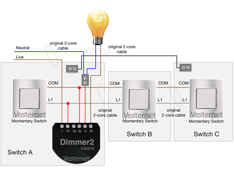 Cool Apnt 158 Standard 3 Way Lighting Circuit With Intermediate Switch W Wiring Digital Resources Indicompassionincorg