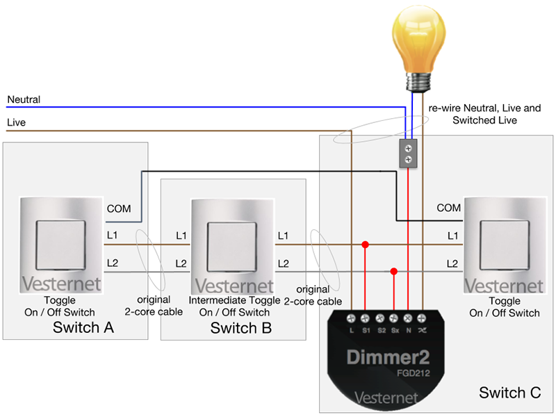 Prime Apnt 158 Standard 3 Way Lighting Circuit With Intermediate Switch W Wiring Digital Resources Indicompassionincorg