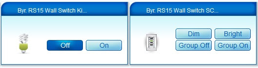 Byron RS15 Wall Switch compatible with RFXtrx433 and Vera