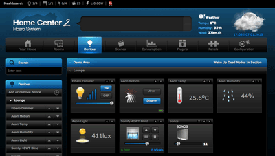 Fibaro Home Center UI