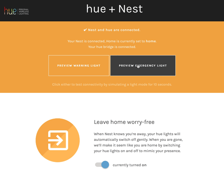 Using Nest with Philips Hue