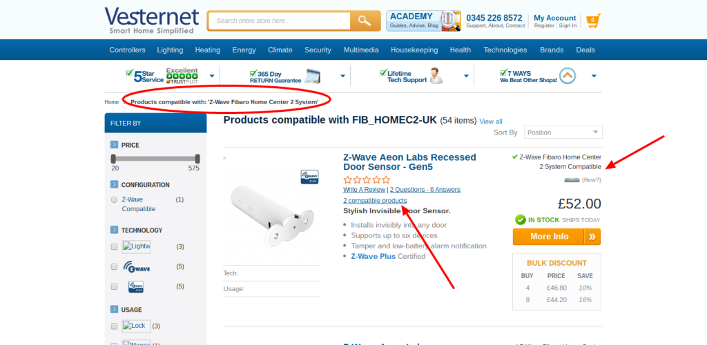 Products Compatible With FIB_HOMEC2 UK Vesternet