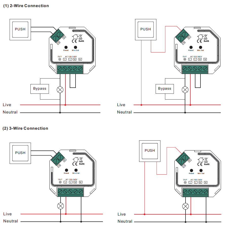 Physically Installing the VES-ZB-DIM-004 2-Wire Capable Dimmer | Vesternet