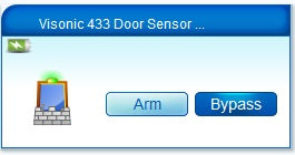 Visonic 302 Magnetic Contact Sensor compatible with RFXtrx433 and Vera