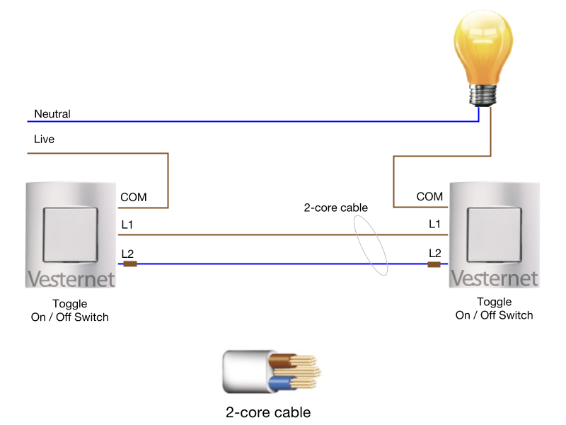 Alternate 2-Way Wiring System