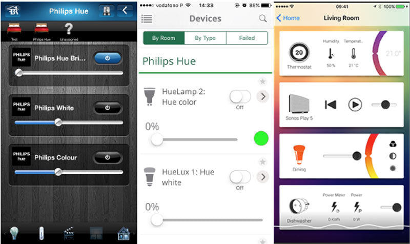 Fibaro, VERA and Homey Apps