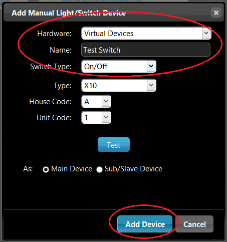 Adding a Virtual Device to Domoticz