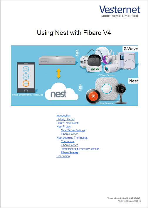 Using Nest With Fibaro V4