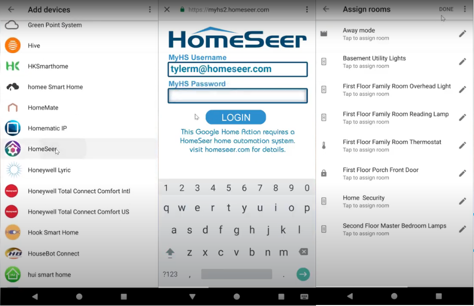 Google Assistant and HomeSeer