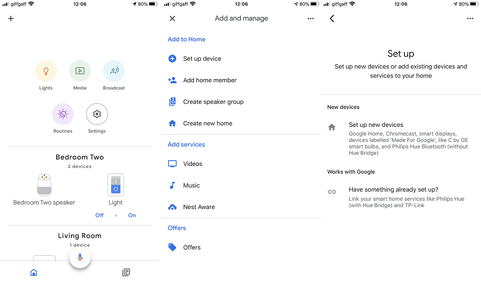 Setting Up Google Nest Speakers and Screens