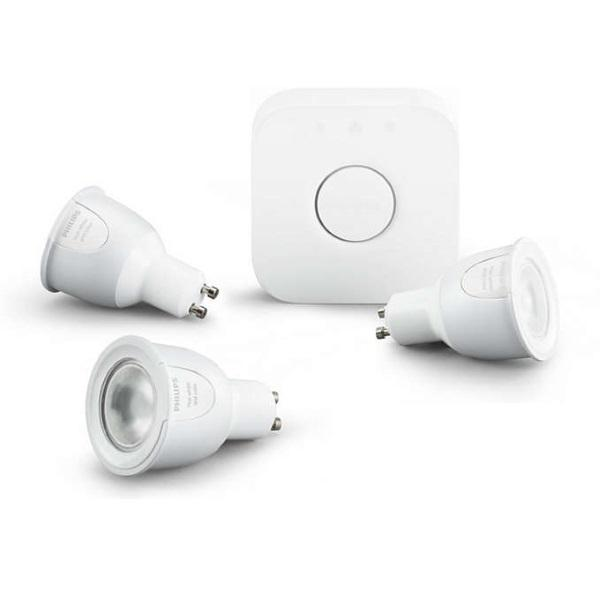 Philips Hue White and Colour Ambiance Starter Kit GU10 - UK Migration_Smart Bulbs Philips