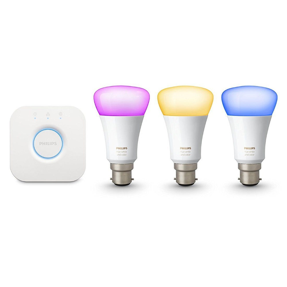 Philips Hue White and Colour Ambiance B22 Starter Kit - UK Migration_Starter Kits Philips