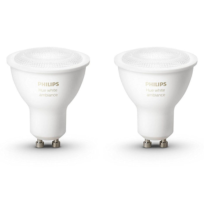 Philips Hue White Ambiance Single Bulb GU10 Dual Pack Migration_Light Bulbs Philips