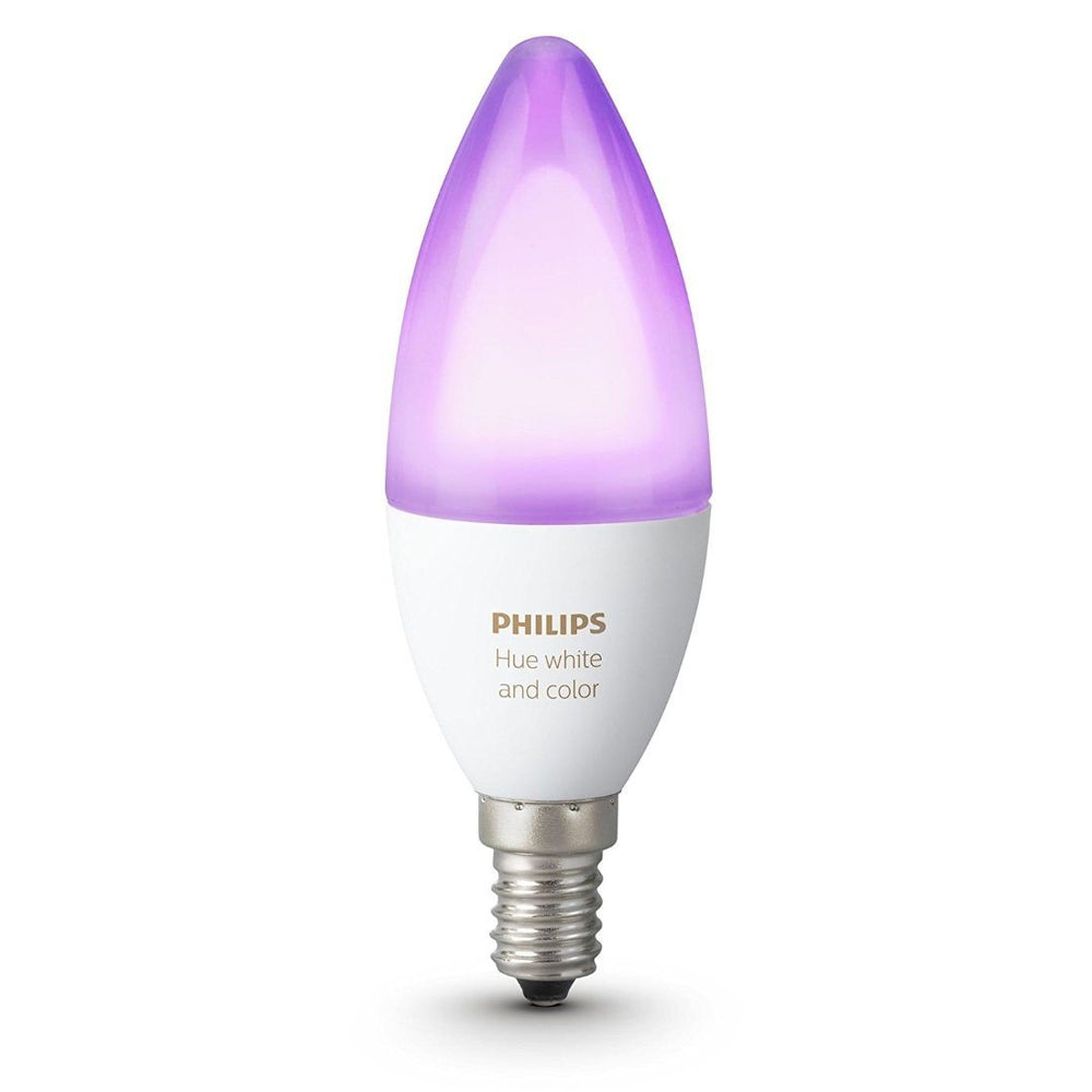 Philips Hue White and Colour Ambiance Single Bulb - E14 Migration_Smart Bulbs Philips