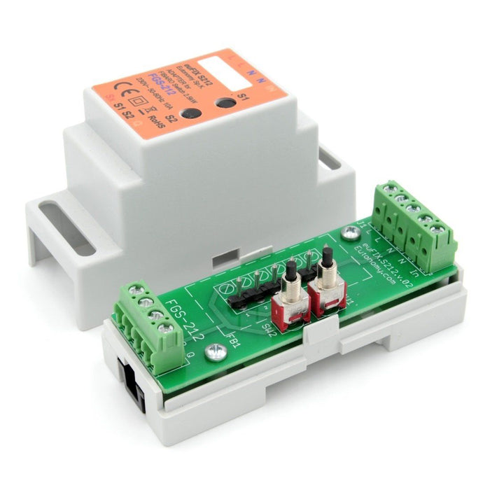 Eutonomy euFIX Adapter DIN for Fibaro Relay Switch 3kW (with Push-Buttons) Migration_Modules Eutonomy