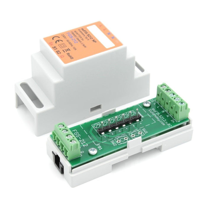 Eutonomy euFIX Adapter DIN for Fibaro Relay Switch 3kW Migration_Modules Eutonomy