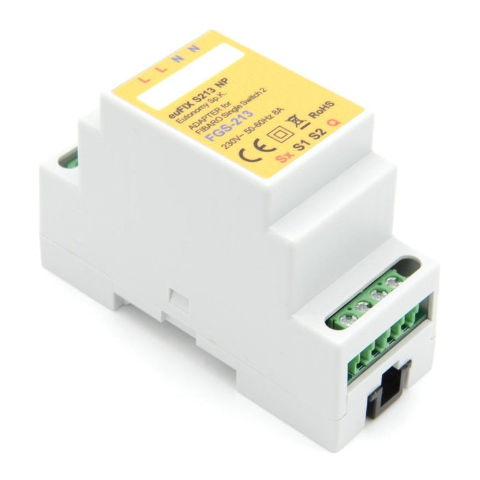 Eutonomy euFIX Adapter DIN for Fibaro Single Switch 2 Migration_Modules Eutonomy