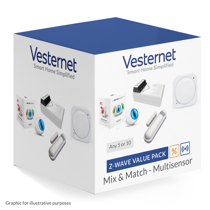 Z-Wave Multisensor Mix & Match - 5 or 10 pack discount Mix & Match Vesternet