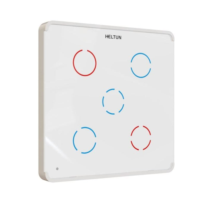 Z-Wave Plus Heltun Switch 5 channels (white glass and frame) Migration_Wall Switches Heltun
