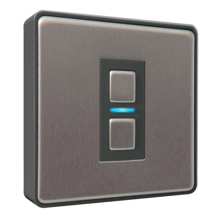 LightwaveRF 1 Gang Smart Dimmer - Stainless Steel - Gen2 Migration_Wall Switches LightwaveRF