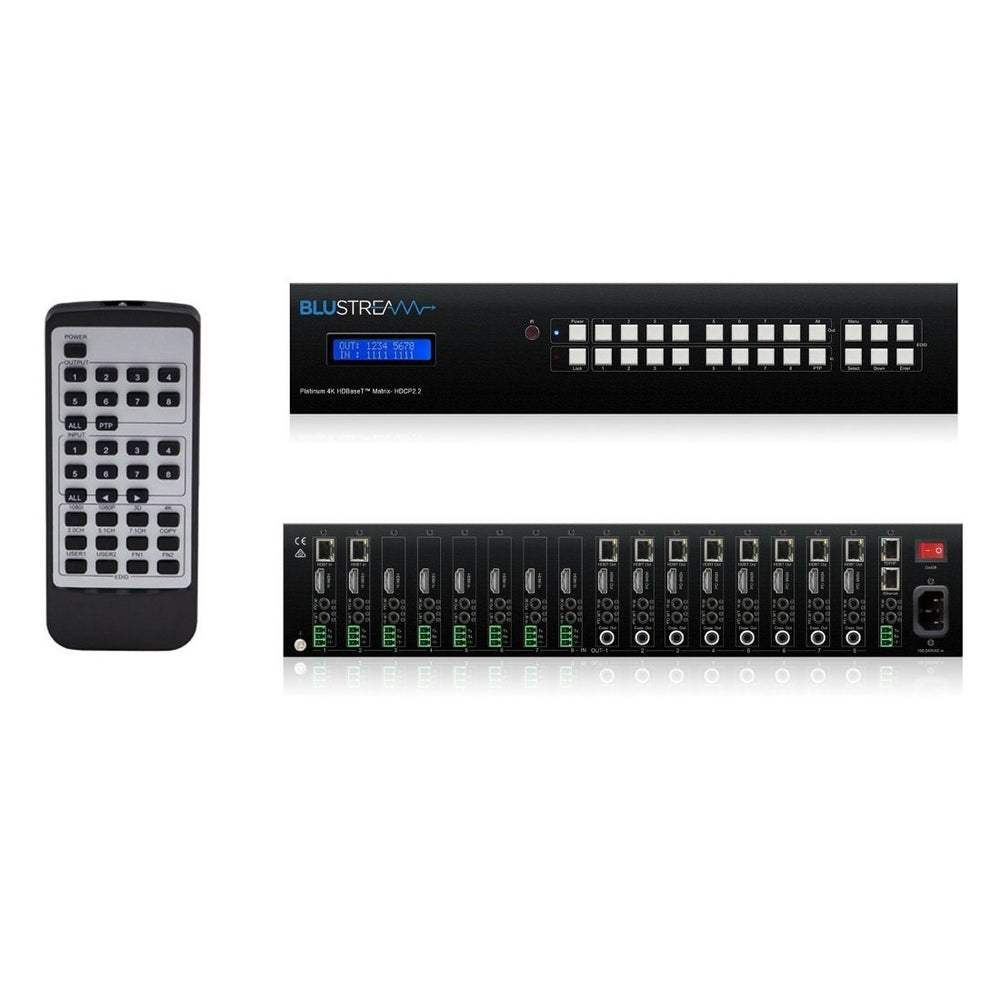 Blustream 8x8 HDBaseT AV Matrix PLA88ARC-V2 Migration_Video and Audio Blustream