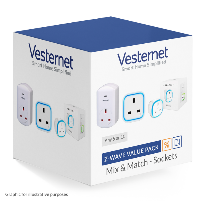 Z-Wave Socket Mix & Match - 5 or 10 pack discount Migration_Sockets Vesternet