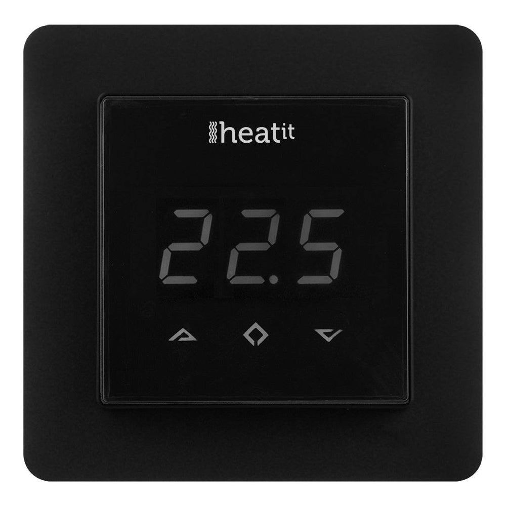 Z-Wave Heatit Thermostat - Black Migration_Thermostats Heatit