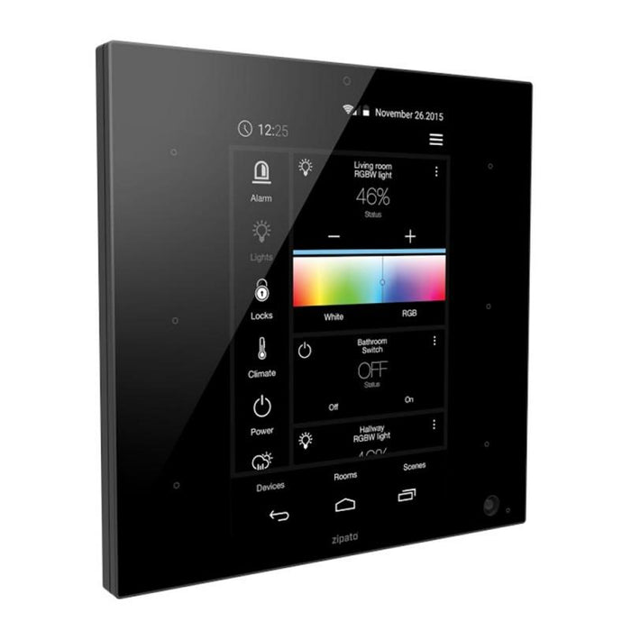 ZipaBox ZipaTile Wall Controller All-In-One Migration_Controllers - Gateways Zipato Black