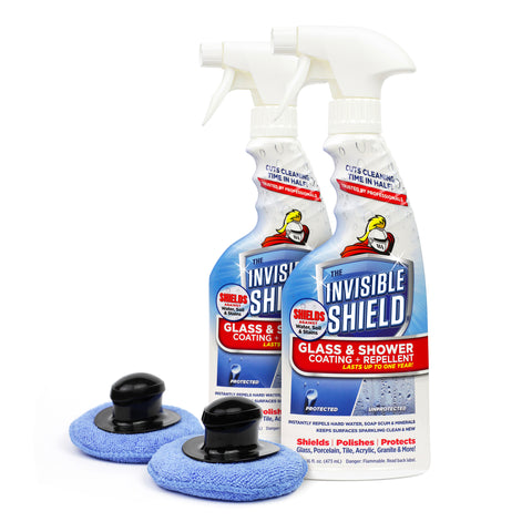Invisible Shield® Glass & Shower Coating + Repellent - 16oz - 2 Pack with Specialty Polishing Pad   #35313-2