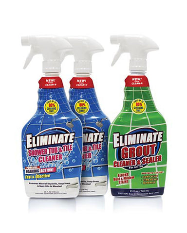 Eliminate® Shower Tub & Tile Cleaner & Grout Protection - 25 oz - 3 Pack #57711