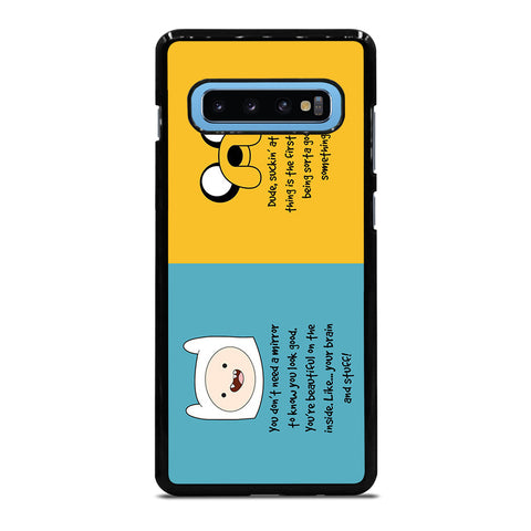 ADVENTURE TIME QUOTE Samsung Galaxy S10 Plus Case - Best Custom Phone Cover Cool Personalized Design