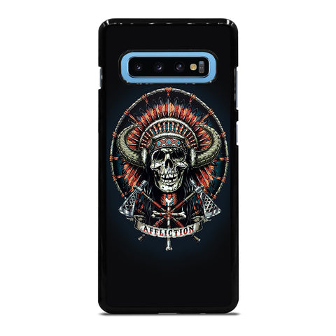 AFFLICTION INDIAN SKULL Samsung Galaxy S10 Plus Case - Best Custom Phone Cover Cool Personalized Design