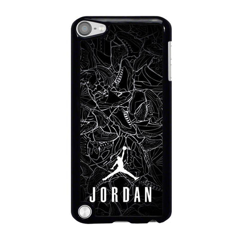 AIR JORDAN SHOES COLLAGE LOGO-ipod-touch-5-case-cover
