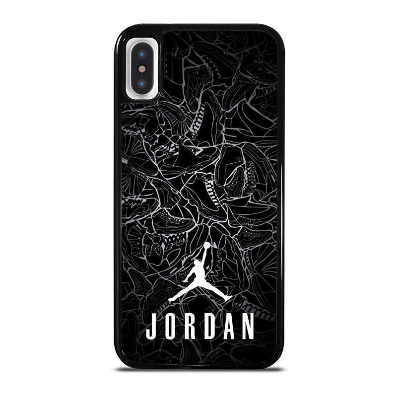 buy online 8b0f5 55dfb AIR JORDAN SHOES COLLAGE LOGO iPhone X / XS Case Cover - Favocase