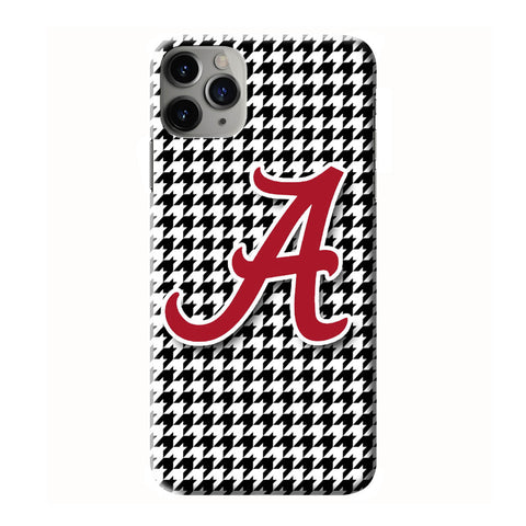 ALABAMA HOUNDSTOOTH iPhone 6/6S 7 8 Plus X/XS XR 11 Pro Max 3D Case - Cool Custom Cover Personalized Design