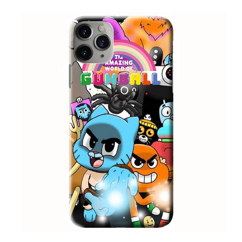 AMAZING WORLD OF GUMBALL CARACTER iPhone 6/6S 7 8 Plus X/XS XR 11 Pro Max 3D Case - Cool Custom Cover Personalized Design