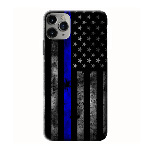 AMERICAN BLUE LINE FLAG iPhone 6/6S 7 8 Plus X/XS XR 11 Pro Max 3D Case - Cool Custom Cover Personalized Design