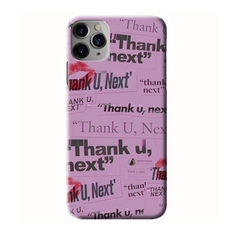 ARIANA GRANDE THANK U NEXT QUOTS  iPhone 6/6S 7 8 Plus X/XS XR 11 Pro Max 3D Case - Cool Custom Cover Personalized Design