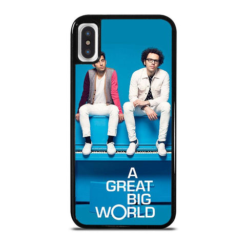 A-GREAT-BIG-WORLD-iphone-x-case-cover