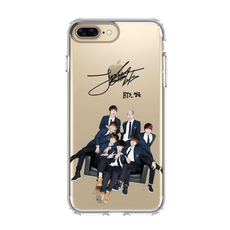 the best attitude 55d0f 98f77 BANGTAN BOYS BTS iPhone 5/5S/SE 6/6S 7 8 Plus X/XS Max XR Clear Case -  Favocase