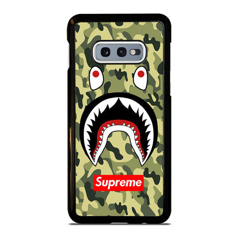 BAPE BATHING CAMO SHARK SUPREME-samsung-galaxy-S10e-case-cover