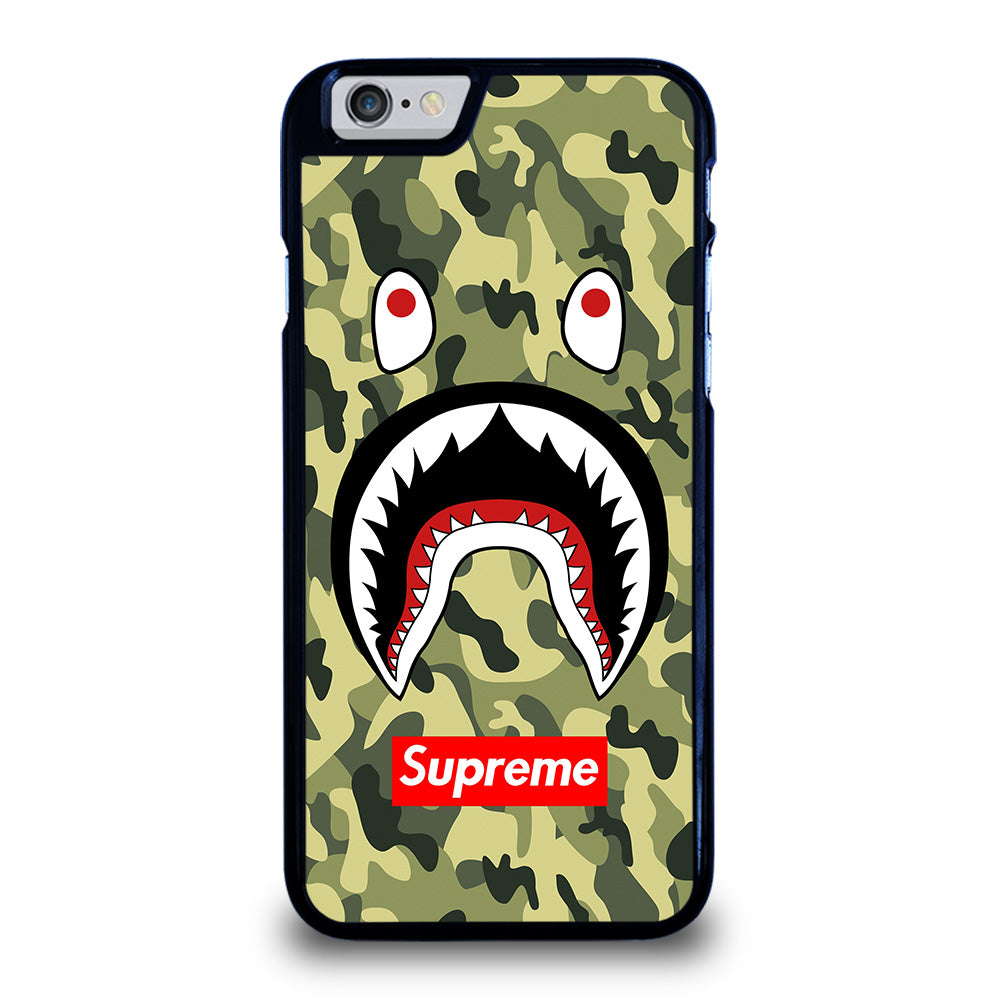 reputable site 049f4 0352a BAPE BATHING CAMO SHARK SUPREME iPhone 6 / 6S Case Cover - Favocase