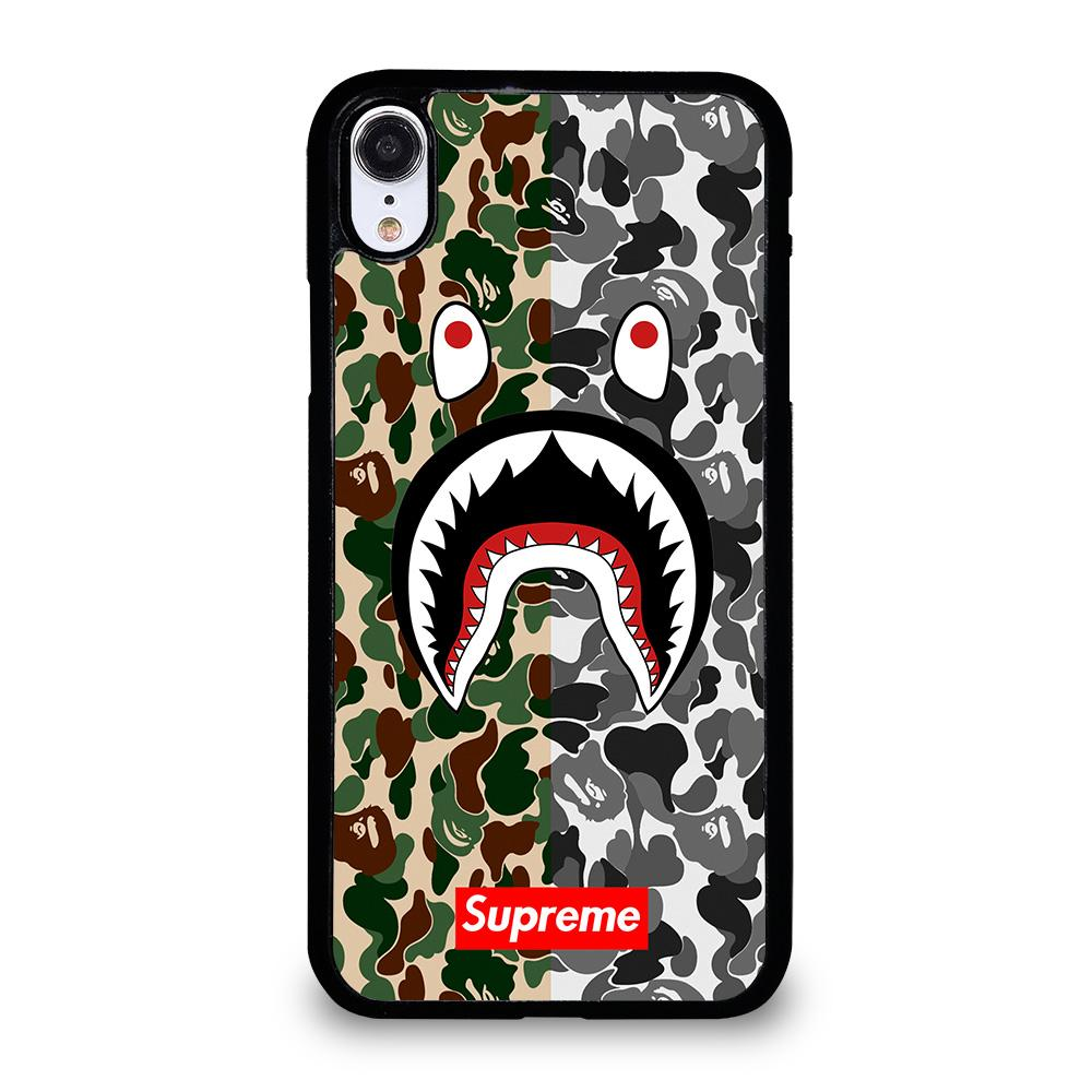 outlet store 1cf9d 01a75 BAPE SHARK SUPREME CAMO 2 iPhone XR Case Cover - Favocase