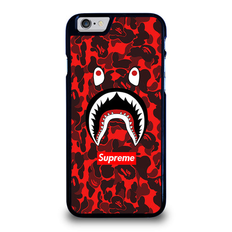 BAPE SHARK SUPREME CAMO RED-iphone-6-6s-case-cover