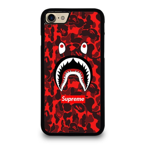 BAPE SHARK SUPREME CAMO RED-iphone-7-case-cover